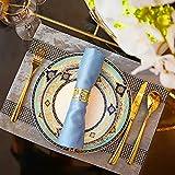 Gold Silber Serviettenringe, 6/12 Stück Metall Serviettenschnallen für Hochzeitsfeier Abendessen Jubiläum Tischdekoration - 3