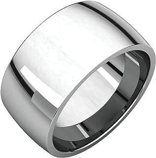 FB جواهر 925 فضة استرليني 10 مم خفيفة الراحة صالح للرجال خاتم الزفاف الفرقة الحجم 11