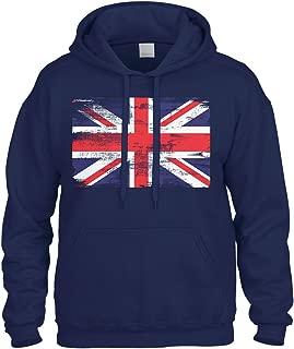 Cybertela Faded Great Britain England Flag Sweatshirt Hoodie Hoody