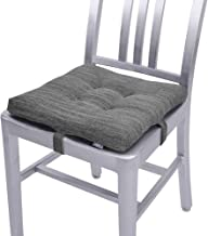 baibu 16 in Square Chair Cushion, Non Slip Chair Pads with Ties for Metal Folding Chair/Dining Chairs- One Pad Only (Gray,...