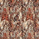 Fabulous Fabrics Jersey Kupfer, Tier, 144cm breit – zum