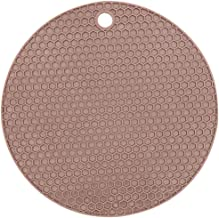 Licogel Solid Color Simple Household Table Trivet Mat Heat Insulation Soft Decorative Silicone Reusable Universal Drink Co...