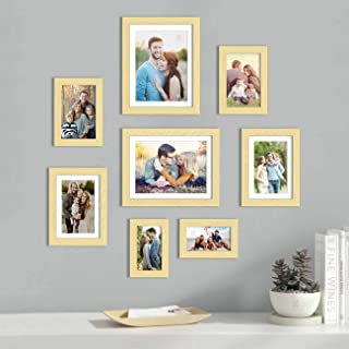Art Street Set of 8 Beige Wall Photo Frame, Picture Frame for Home Decor with Free Hanging Accessories (Size - 4x6, 5x7, 6...