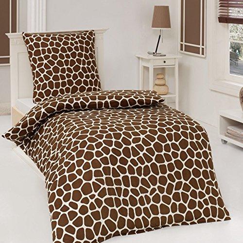 2tlg Microfaser Bettwäsche African Dream Giraffe 135X200 od. 155X220 Neu, Größe:135 x 200 cm