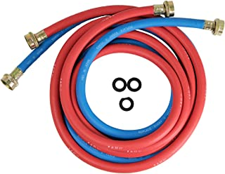 HIGHCRAFT CNCT1056W Washing Machine Supply Line, For Hot And Cold Water Supply, Washing Machine Hose Connector EPDM Rubber Tube Cover 10 Ft (Pack Of 43862 red -1 Blue)