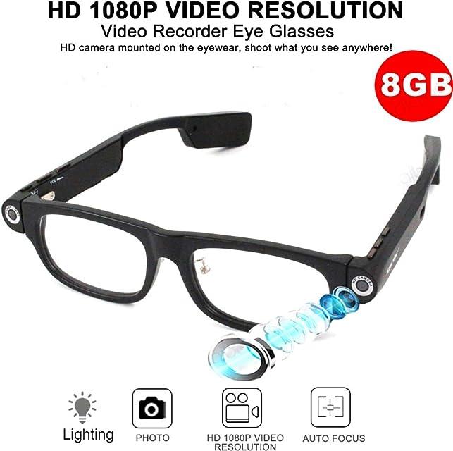 1080P Cámara Gafas De Sol De La Cámara HD De La Cámara Espía Auricular Bluetooth Mini Videocámara Ocultada Cámaras De Iluminación De Navegación GPS Recordatorio Cámara De Acción Dash Cam Glasses