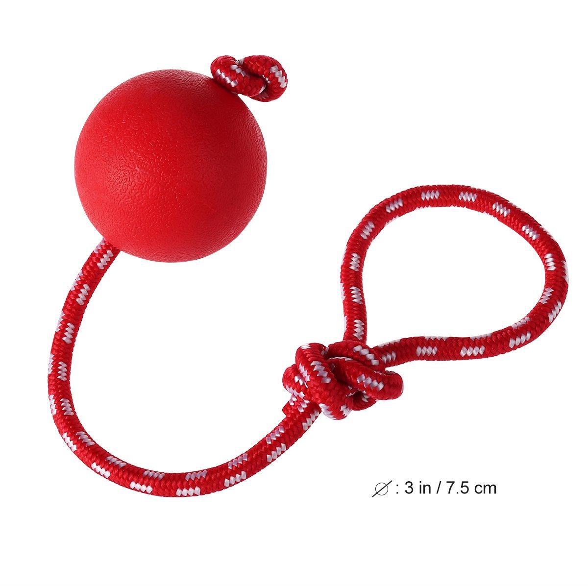 UEETEK Bola de Juguete Masticar Goma de Mascota con la Cuerda ...