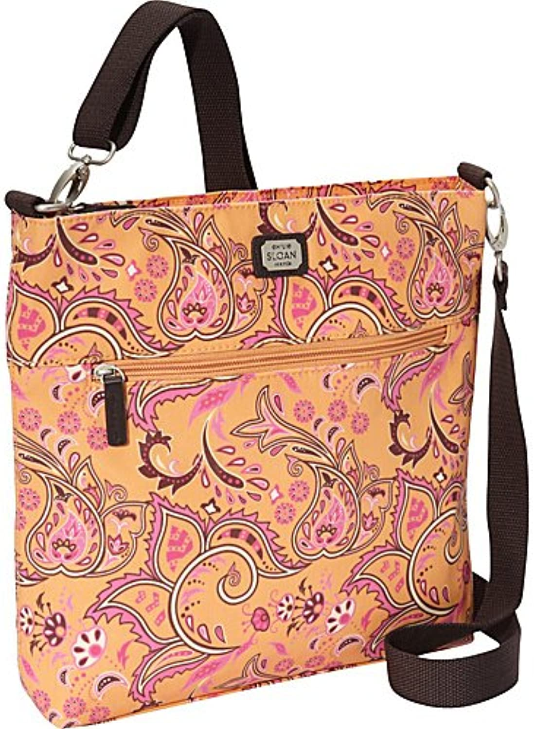 EMILIE SLOAN LOGAN TALL CROSS BODY BAG (TANGERINE)