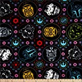 Camelot Fabrics Star Wars Sugar Skulls Fleece Fabric, Coral, Fabric By The Yard