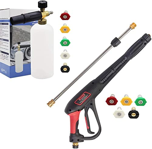 popular Twinkle Star Foam Cannon with lowest 5 Nozzle outlet online sale Tips | Pressure Washer Gun sale