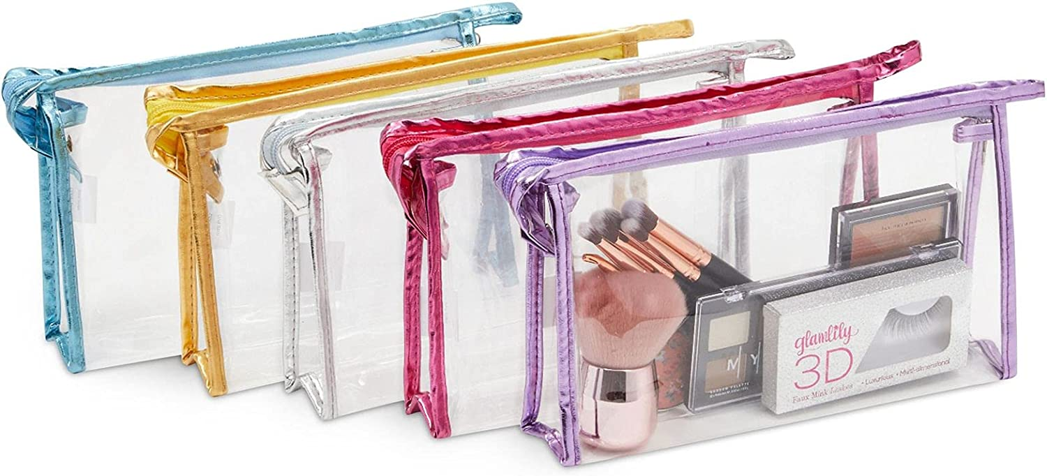 Clear Plastic Dealing full price reduction Super special price Makeup Bags for 9x5 Travel Cosmetics Toiletries