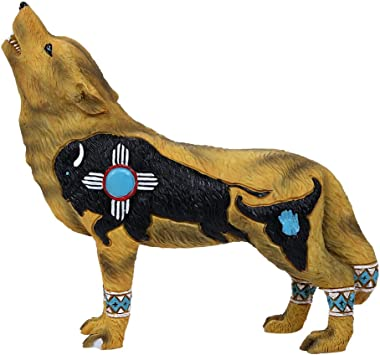 Pacific Giftware The Wolf Spirit Collection Buffalo Wolf Collectible Figurine Howling Wolf 6.25L