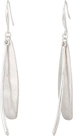 Robert Lee Morris Silver Linear Earrings