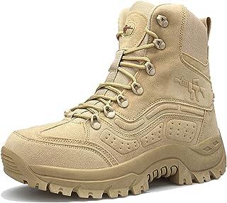ZZMFC Bottes Militaires pour Hommes Jungle en Daim Respirant Chaussures de l'armée Bottes de Montagne résistantes en Patro...