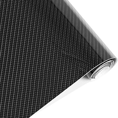 Rouleau de film vinyle imperméable en fibre de carbone 5D Noir 152 cm x 50 cm