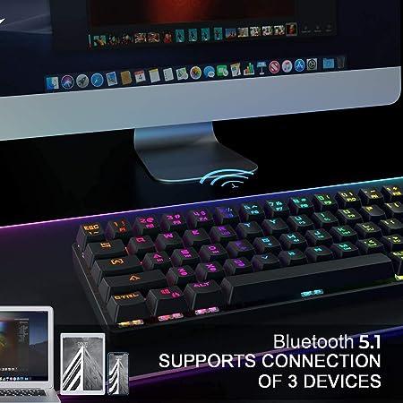 KEMOVE Shadow 60% Teclado Gaming mecánico Bluetooth 5.1 ...