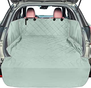 F-color SUV Cargo Liner for Dogs, Waterproof Pet Cargo Cover with Side Flap Protector Dog Seat Cover Mat for SUVs Sedans Vans with Bumper Flap, Non-Slip, Large Size Universal Fit