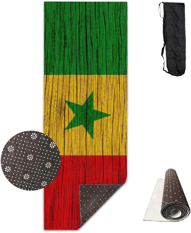 Senegal Wooden Texture Senegalese Flag ECO Aqua Power Kinematic Iyengar Kundini Hot Pilates Gymnastics Hatha Yoga Mat Exercise Mat
