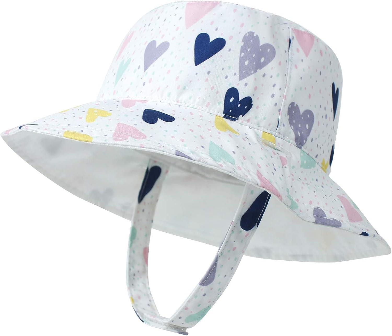 LAPI.ZAPI Baby Sun Hat Print Pattern Kids Reversible Boy Max 43% OFF New life h Girls