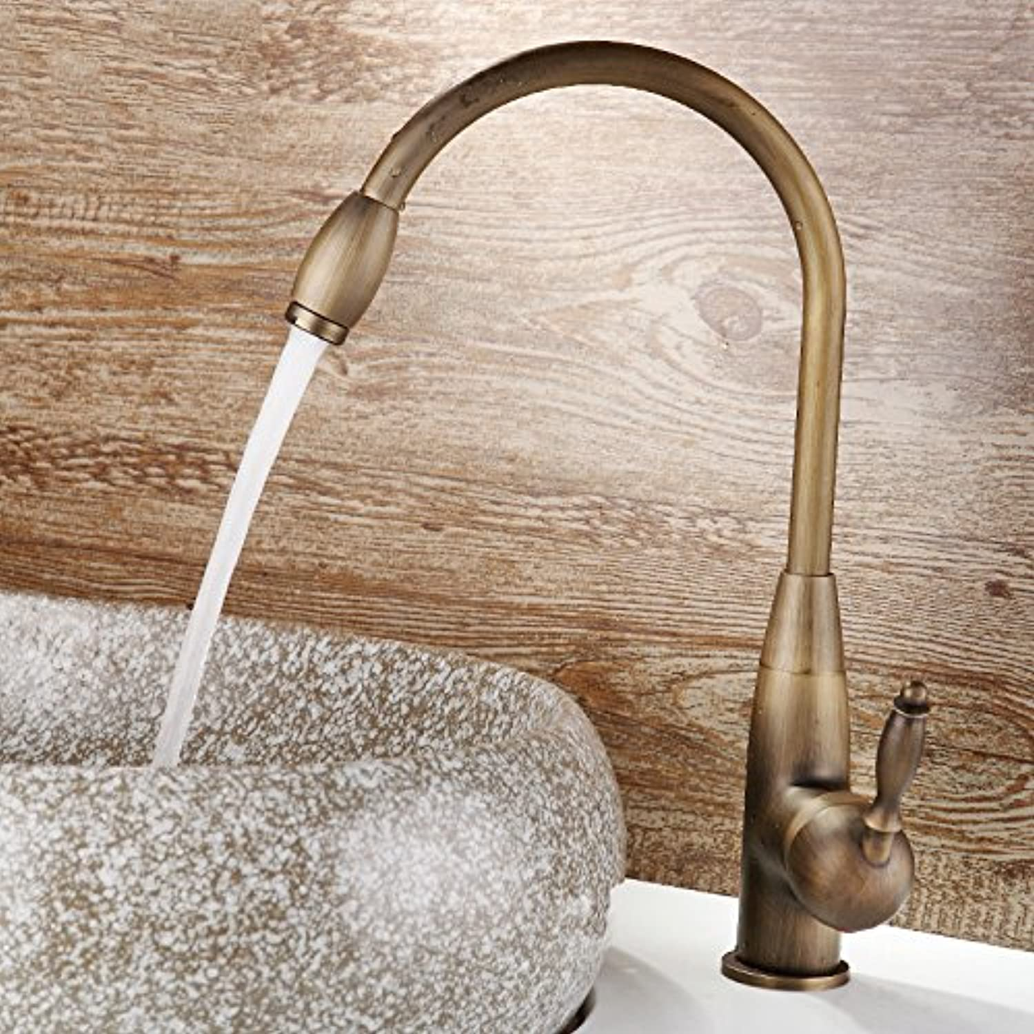 Faucat All Bronze Hot And Cold Imitation European Style Kitchen Faucet, Sink, Dish Basin Faucet,Nine Thousand And Sixty