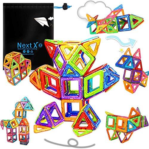 NextX 64 Blocchi Magnetici Giocattolo - Set Di 64 Pezzi per Costruzioni 3D - Puzzle...