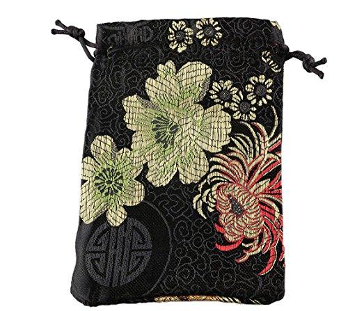10pcs 6x4 Satin black Jute Bag Drawstring bags Gift Candy Beads Bags for Handmade Soap Storage/ Wedding Decor
