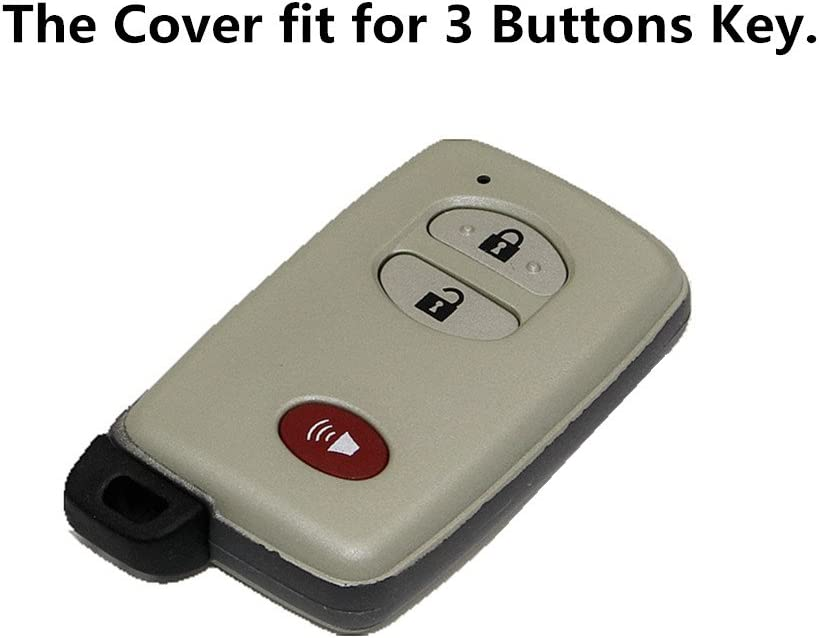 Black and Red Silicone Rubber Remote Key Cover Holder Key Fob Skin Cover for 4runner Venza Avalon Land Cruiser Camry