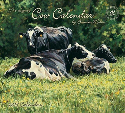 Legacy Publishing Group 2018 12-Month Wall Calendar, Cow Calendar