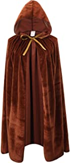 Kids Velvet Cape Cloak with Hood Unisex-Child Cosplay Halloween Christmas Costume