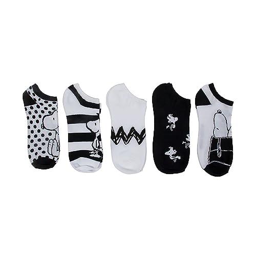 4a5c1ea0b9 Peanuts 5 Pack No Show Socks
