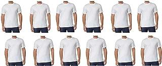 Men's Crew Neck Tagless T Shirts 12-Pack, White