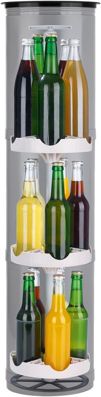 EASYmaxx 07787 - Enfriador de Botellas para Exteriores, con Orificios para el Suelo, para Camping, Playa, Festivales, Color Gris