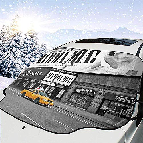 Jeffrey Toynbee NYC Yellow Cabs Mamma Mia Auto Windschutzscheibe Sonnenschutz Schnee EIS Windschutzscheibe Protector Cover