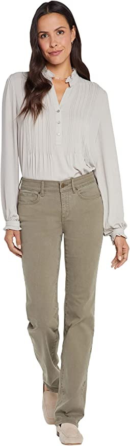 Marilyn Straight Jeans in Moss
