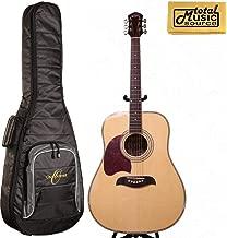 Oscar Schmidt LEFT HAND Dreadnought Acoustic Guitar, Spruce Top,w/Gigbag OG2NLH