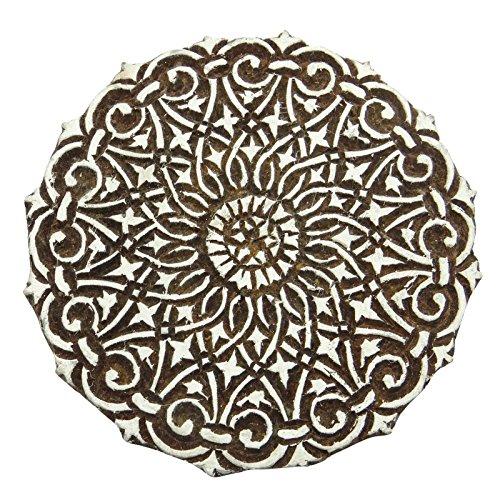 Floral Handcarved Indian Textile Drucktype Wooden Stamp Stamp Scrapbook