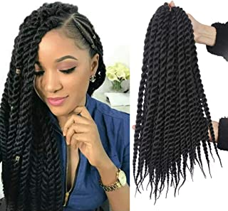 6 Packs 18 Inch Havana Mambo Twist Crochet Hair Senegalese Twist Crochet Braids Havana Twists Braiding Hair (2#)