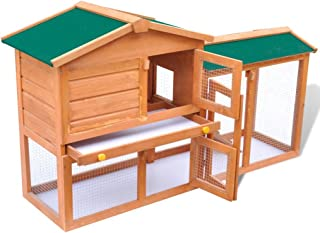 Tidyard Outdoor Large Rabbit Hutch Small Animal House Pet Cage Wood