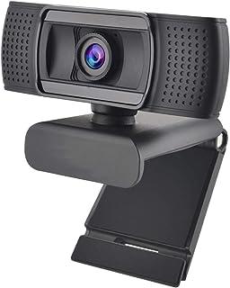 Hinzonek Webcam with Microphone Auto Focus HD 1080P USB Computer Camera for Win XP Win Vista Win 7 Win 8 Win 10