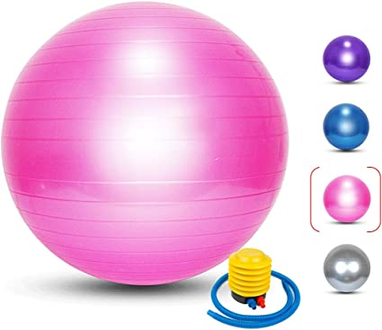 Physical Therapy Professional Quality Design Stability Exercise Ball 25 inch Extra Thick Yoga Chair for Fitness Balance