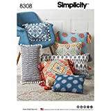 Simplicity Home Décor Throw Pillow Sewing Patterns, One Size Only