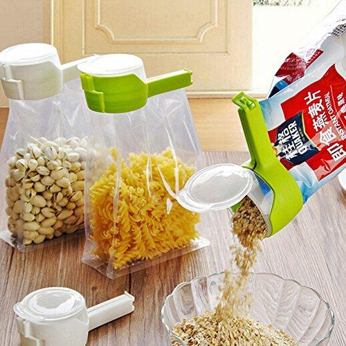 zmart シール 食品貯蔵 バッグ クリップ シリアル スナック パスタ 乾燥 シール クリップ タッパー 新鮮 湿度 キープ シーラー クリップ トラベル キッチン