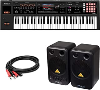 ROLAND FA-06 Music Workstation シンセサイザー BEHRINGER MS16 パワードモニタースピーカー 付き