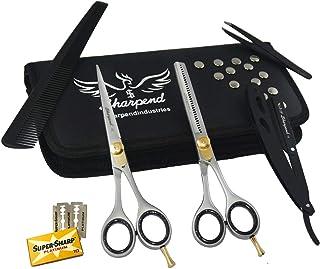 Professional Hair Cutting Scissors Kit Barber Shears Japneese Stainless Steel Razor Edge Hair Salon Scissors Thinning For ...