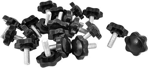 Cikuso Schroefknoppen met sterkop en buitenschroefdraad M6 x 16 mm, diameter 25 mm, voor schroefstok, 20 stuks