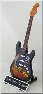 STEVIE RAY VAUGHAN Miniature Guitar SRV Custom w/Name Tag