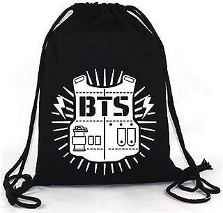 Elfun(TM) KPOP BTS Bangtan Boy Backpack BTS Casual Shoulder Bag String Bag