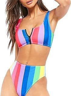 Best zip up crop top bikini Reviews