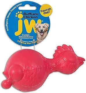 JW Pet Ruffians Chicken Medium, Asst Red & Yellow