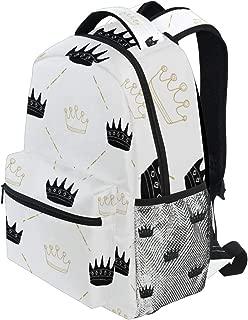 KVMV Crown Pattern Hand Drawn Royal Bag